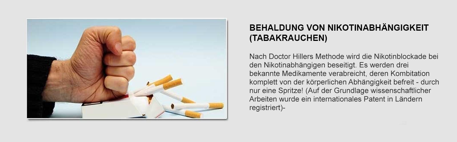 Nikotinsucht klinik